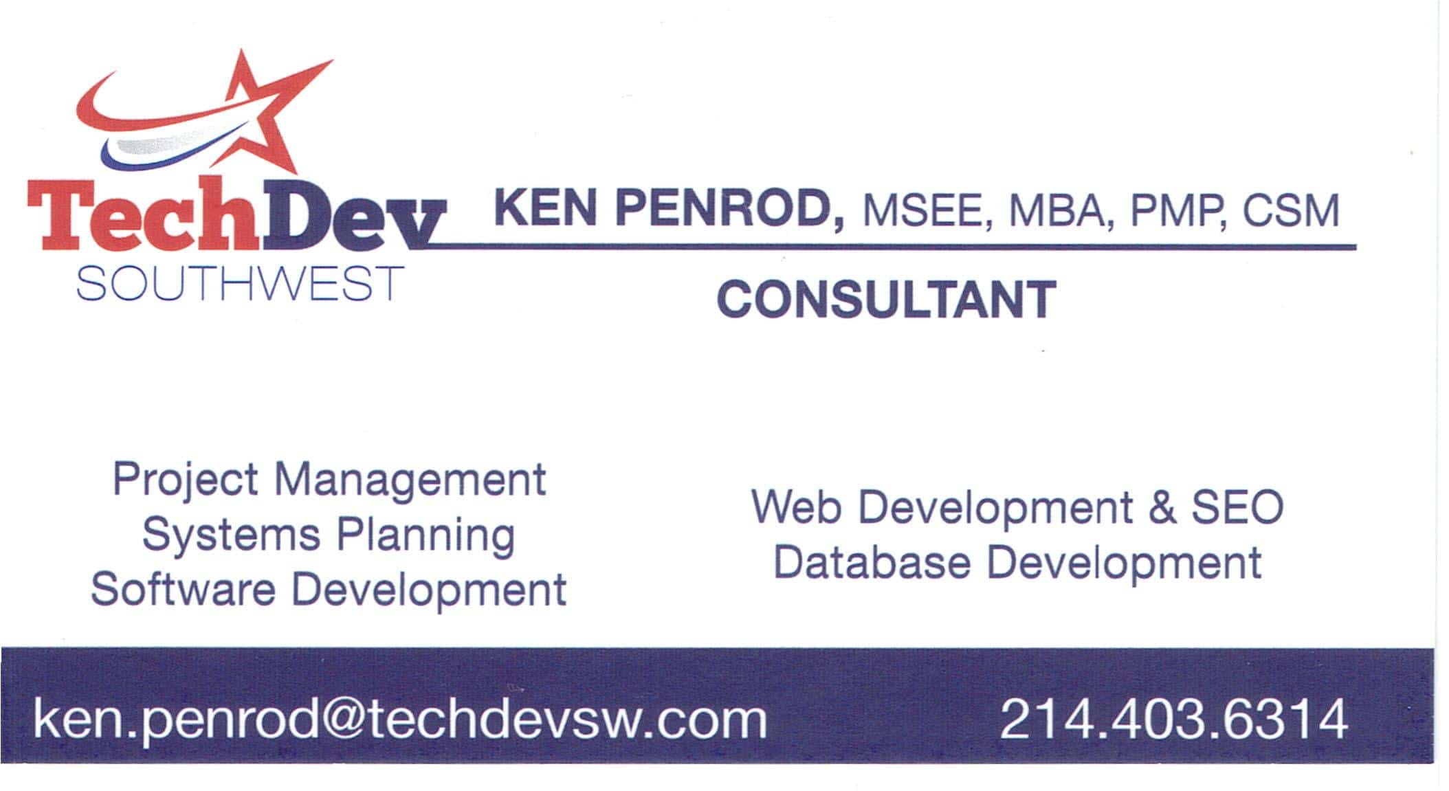 Ken Penrod Business Card